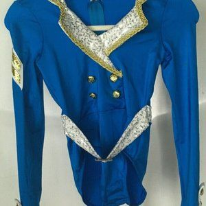 WEISSMAN dance costume girls size SC  Blue White